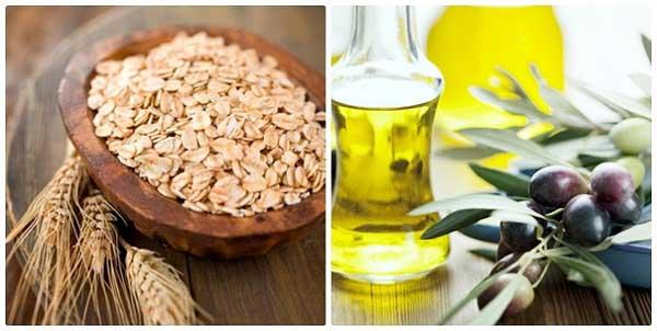 Mặt nạ bột yến mạch, dầu oliu và chanh