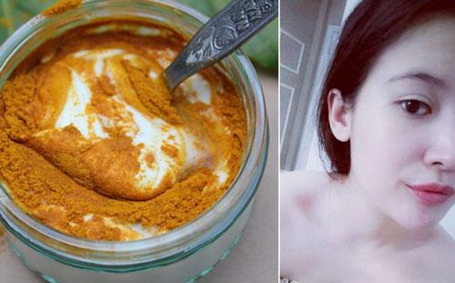 Mặt nạ sữa chua mật ong va bột nghệ