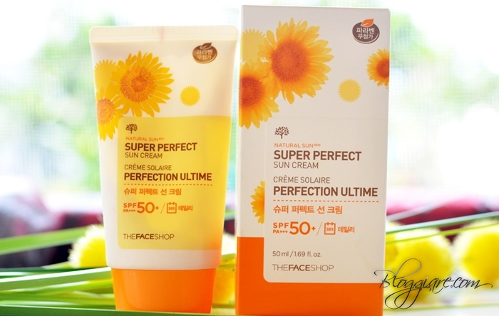 review kem chong nang the face shop