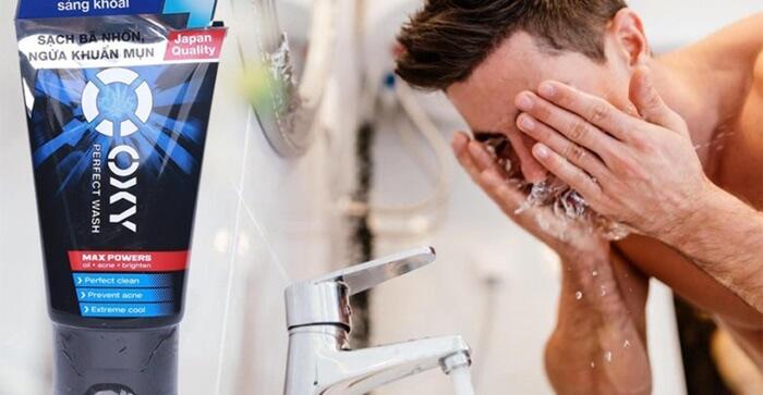 Sử dụng sữa rửa mặt Oxy hiệu quả
