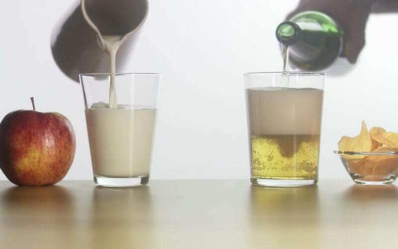Bia và sữa tươi làm trắng da hiệu quả